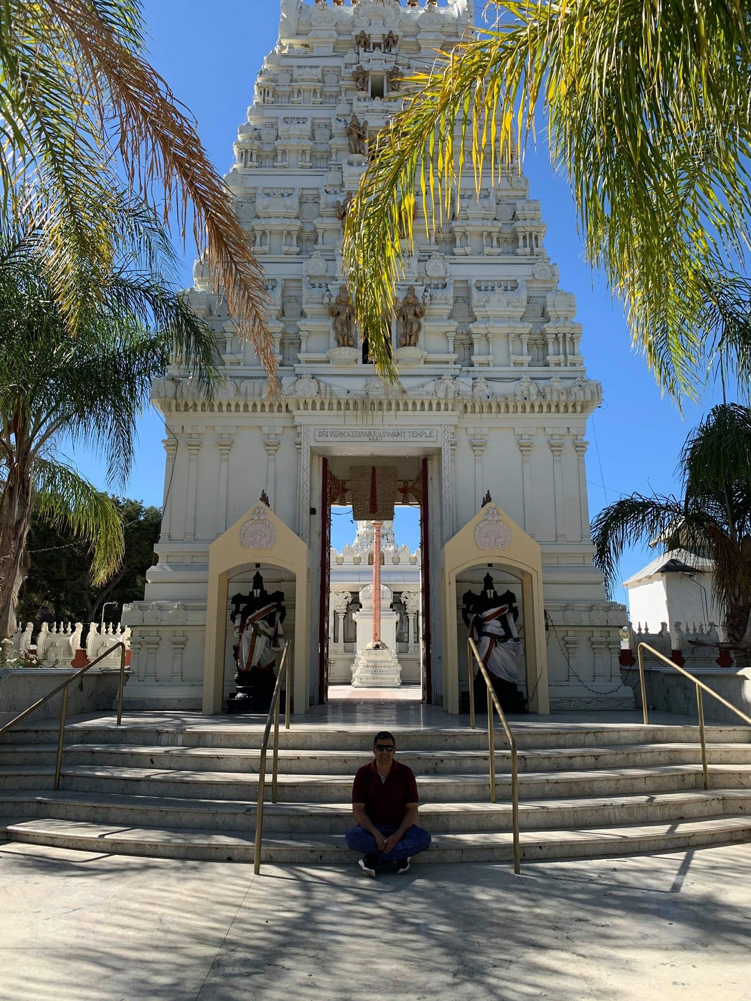 Anuj Dhar at Malibu Temple CA