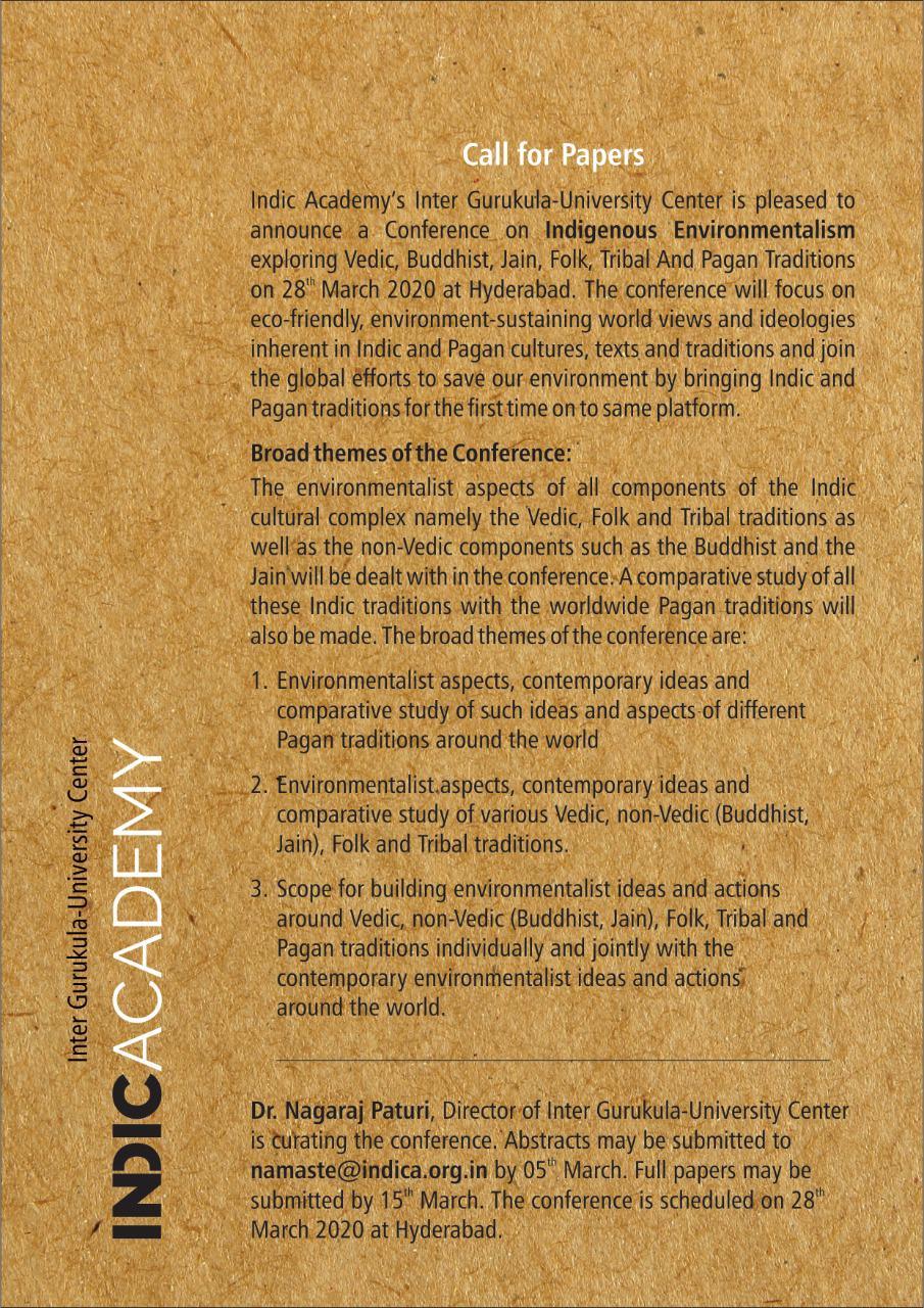 Indigenous Environmentalism