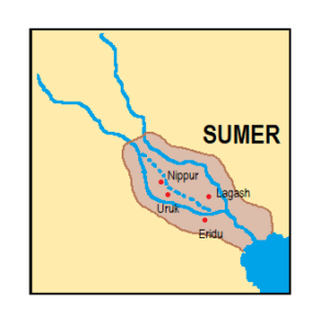 Figure 4: The first cities of Sumer